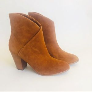 Joe's Brown Suede Ankle Boots Booties Pull On 10